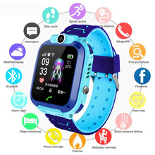 New Fashion Brand Kids Smart Watches LED LBS Positioning Anti-lost Multifunction Digital Dlectronic Watch Boy Girl Clock PK Q90(China)