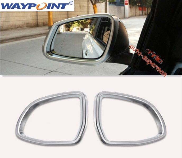 Matt Chrome Side Mirror frame trim Cover For BMW X4 F26 X3 F25 2015 2016 2017