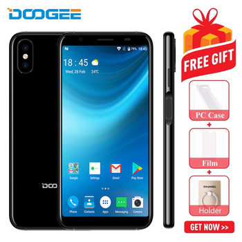 2018 DOOGEE X55 Smartphone 5.5 18: 9 Android 7.1 1GB RAM 16GB ROM MT6580 Quad Core Dual Camera 8MP Fingerprint 3G Mobile Phone smartphone