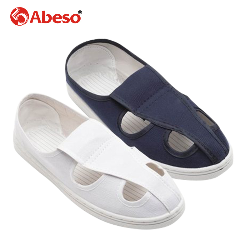 Abeso Safty Shoes Men Anti-static  Four holes Slip-on Breathable Massage Canvas  Shoes Women For Super Light Flats Foot A8611Abeso Safty Shoes Men Anti-static  Four holes Slip-on Breathable Massage Canvas  Shoes Women For Super Light Flats Foot A8611