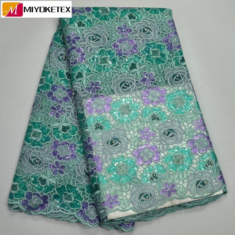 Luxury African Organza Sequin Lace Fabric 2019 Hot Sale Nigerian Wedding Dress High Quality Organza French