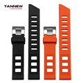 Orange black rubber strap waterproof straps with pin buckle watchband 20mm  free shipping