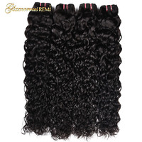 Peruvian Water Wave Human Hair Bundles Weave Can Buy 4 Bundles Hair extensions 100% Human Remy Hair For Woman Free Shipping 1b