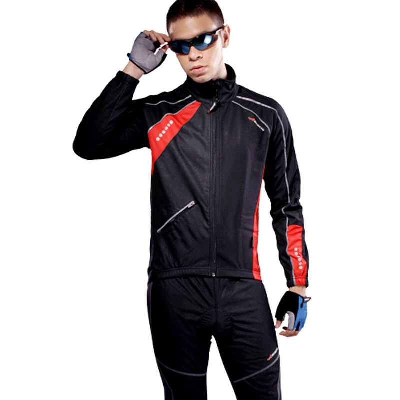 купить  ACACIA Bicycle Winter Cycling Windproof Suit New Outdoor Sport Fleece Long sleeve Jersey Pants Cycling Jersey Bicycle Long Pants  недорого