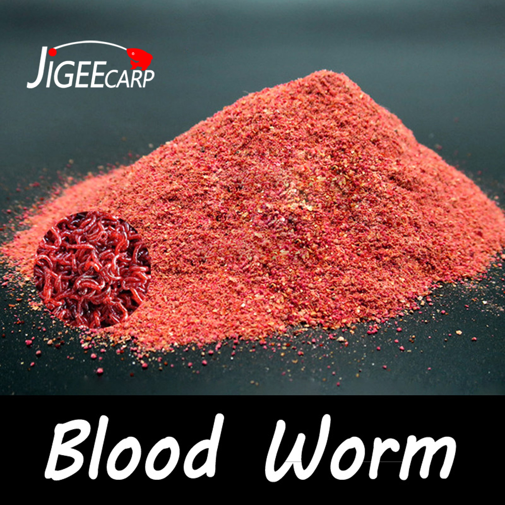 JIGEECARP 1Bag 40g Blood Worm Flavor Additive Red Worm Powder Carp/CatFishing Feeder Bait Boillie Making Material Groundbait image