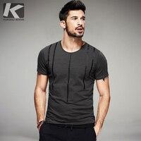 2017 Summer Mens Fashion T Shirts Striped Print Gray Green Black Brand Clothing Short Sleeve Man