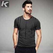 hot deal buy 2017 summer mens fashion t shirts striped print gray green black brand clothing short sleeve man's slim t-shirts wear tops tees