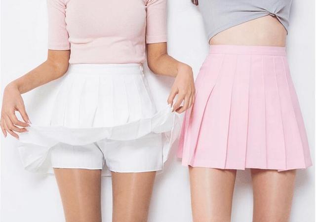 2017, лето, новый АА высокая талия Тонкая короткая юбка студенты колледжа ветер код юбка