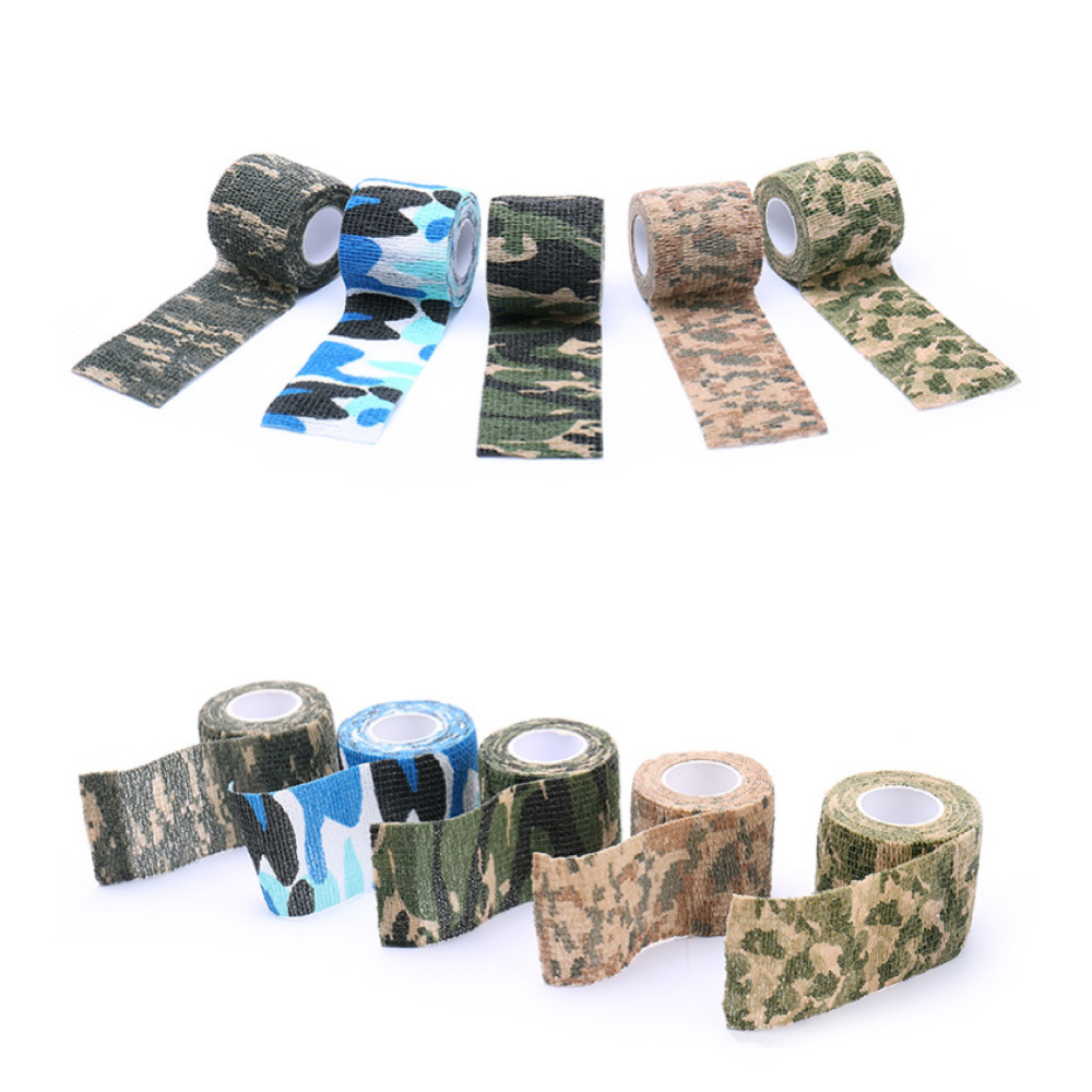 Waterproof Tatto Grip Durable 5cmx4.5m Army Camo Camouflage Stealth Tape Wrap Nonwoven Wound Bandage Sports Wrist Support