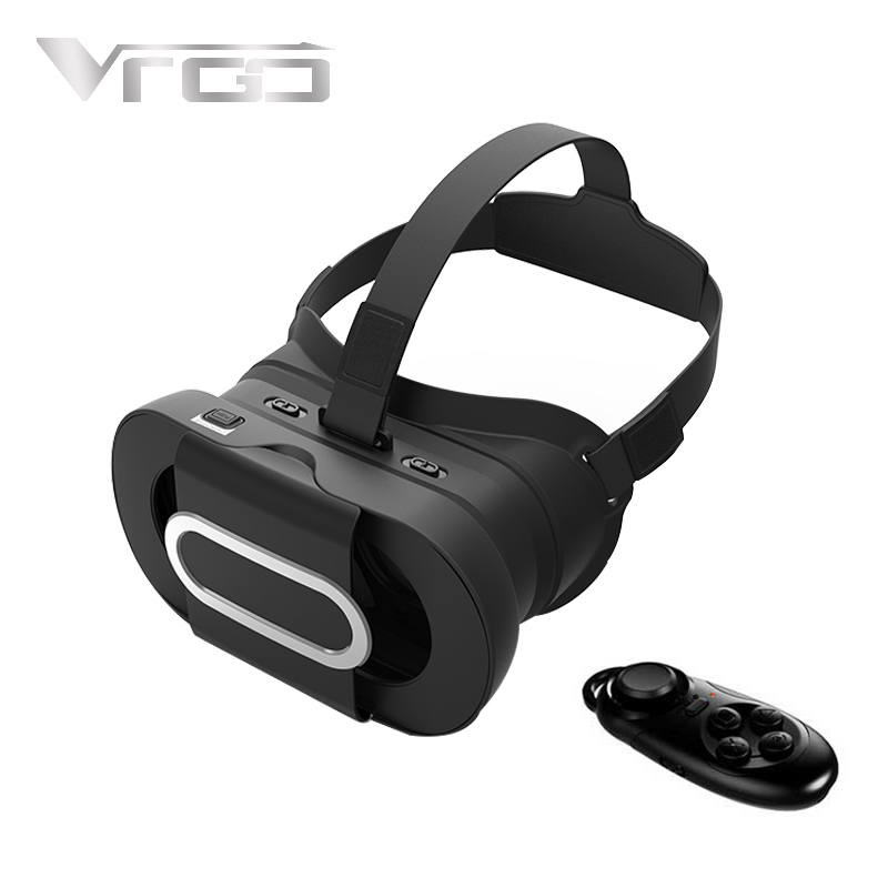 New RITECH VRGO 3D VR Glasses Virtual Reality Headset Immersive Helmet Black for 4.7-6.0 Inch Smartphones with Bluetooth Gamepad