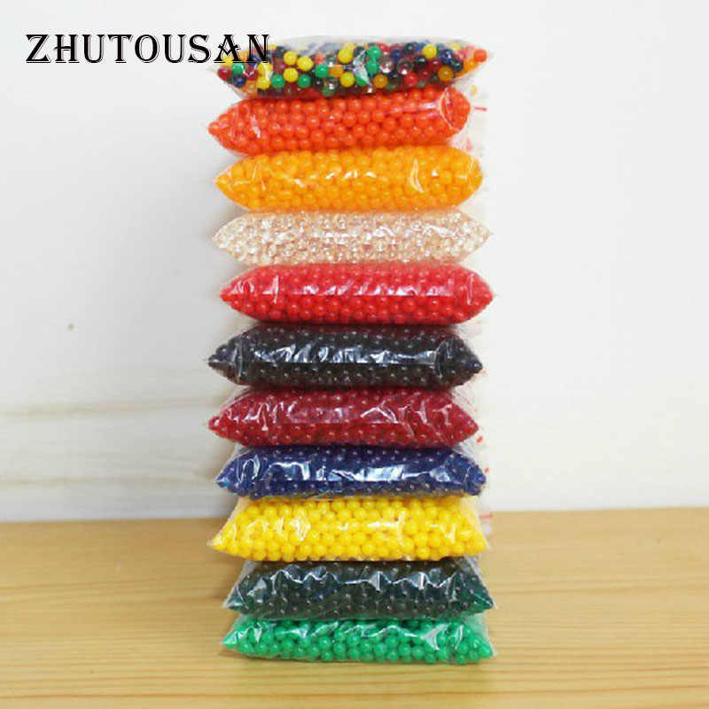 3000 Particles Per Bag Jelly Colored Crystal Soil Gel Wedding Decoration obriz Growing Water Balls Water Beads For Potted Flower