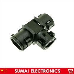Mieszek/rura falista powłoka/osłona do wtyczki Auto złącze elektryczne kabel  rura karbowana tee 10*10*10mm  PA66 w Złącza od Lampy i oświetlenie na