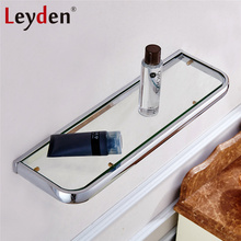 Leyden Hot Glass Shelf Rack Bath Shelf ORB/ Antique Brass/ Gold/ Chrome Wall Mounted Square Storage Rack Organizer Bath Shelves