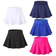 Женская теннисная юбка-шорты для йоги, шорты для фитнеса, шорты для бадминтона, трусы, короткое платье, дышащая быстросохнущая Женская Спортивная юбка для тенниса