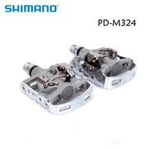 Фотография shimano PD-M324 Multi Purpose SPD Pedals MTB Clipless Clip Touring Mountain M324