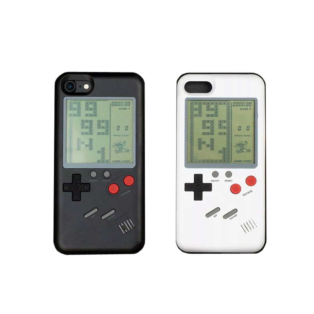 US $5 97 29% OFF Nostalgia Tetris Game Consoles Mini Handheld Game Players  Built in 26 Games Phone Case For Iphone X 6s 7 8 Plus Gift-in Handheld Game