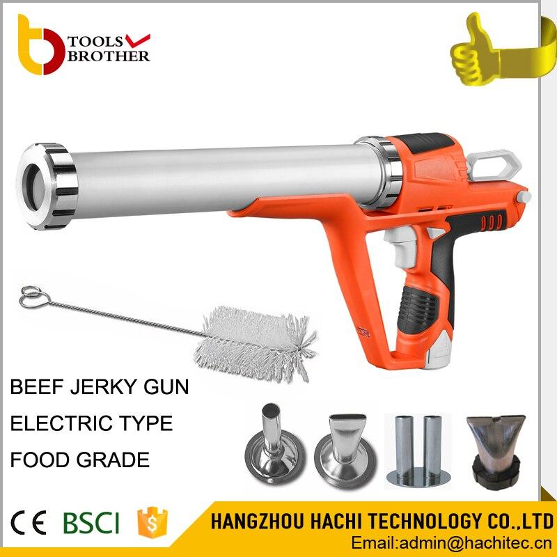 В 12 В литиевая батарея jerky blaster Электрический jerky gun комплект с шт. 4 шт. насадки из нержавеющей стали и одна щетка батарея jerky gun