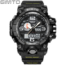 2017 Military Sport Watch Men GIMTO Top Brand Luxury Famous Electronic LED Digital Wrist Watch Male Clock For Man Relogio Mascul