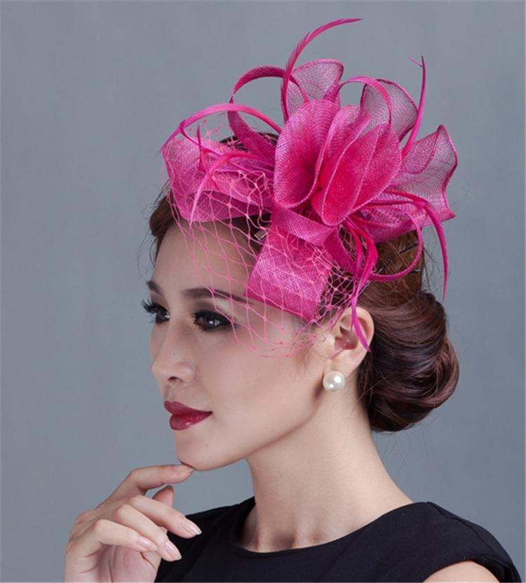 Brand New Sinamay Hat Fascinator Feather Flower Hair Clip Wedding Hats And Fascinators Bridal Accessories Chapeu Casamento In Fedoras From Women S