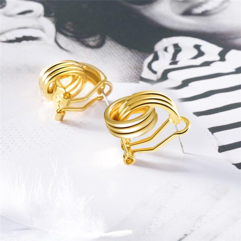 ROMAD Geometric Earrings Men Women Fashion Black Rose Gold Female Anti-Allergy Hip Hop Stud Earrings Creative Party Jewelry R4