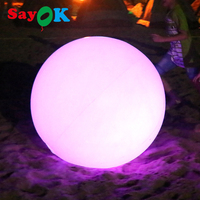 2017 New design PVC inflatable led ball with RGB light/PVC inflatable beach ball water floating balloon sale