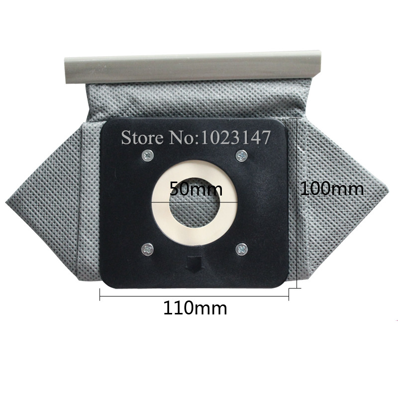 2 pieces/lot Vacuum Cleaner Bag Non Woven Bags 110mm*100mm Plastic tray Washable Dust Bag Replacement for Electrolux etc. free shipping to ru 2 pieces lot vacuum cleaner bag cloth dust bag for electrolux excellio clario oxygen zus3300 series etc