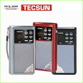 TECSUN A6 Radio FM / AM / mp3 . Pocket portable size. With led light, Rechargeable and replaceable battery, MP3 player VS Degen