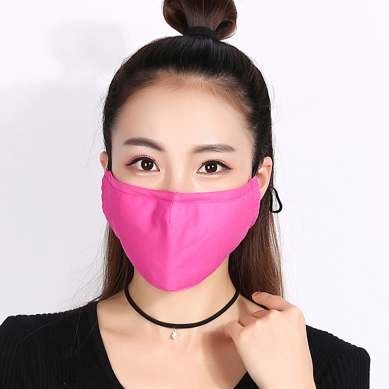 10pcs/Pack Wholesale Cotton Mouth Mask Protective Masks For Winter And Winter Cotton Dust And Heat Protect Solid Color Mask