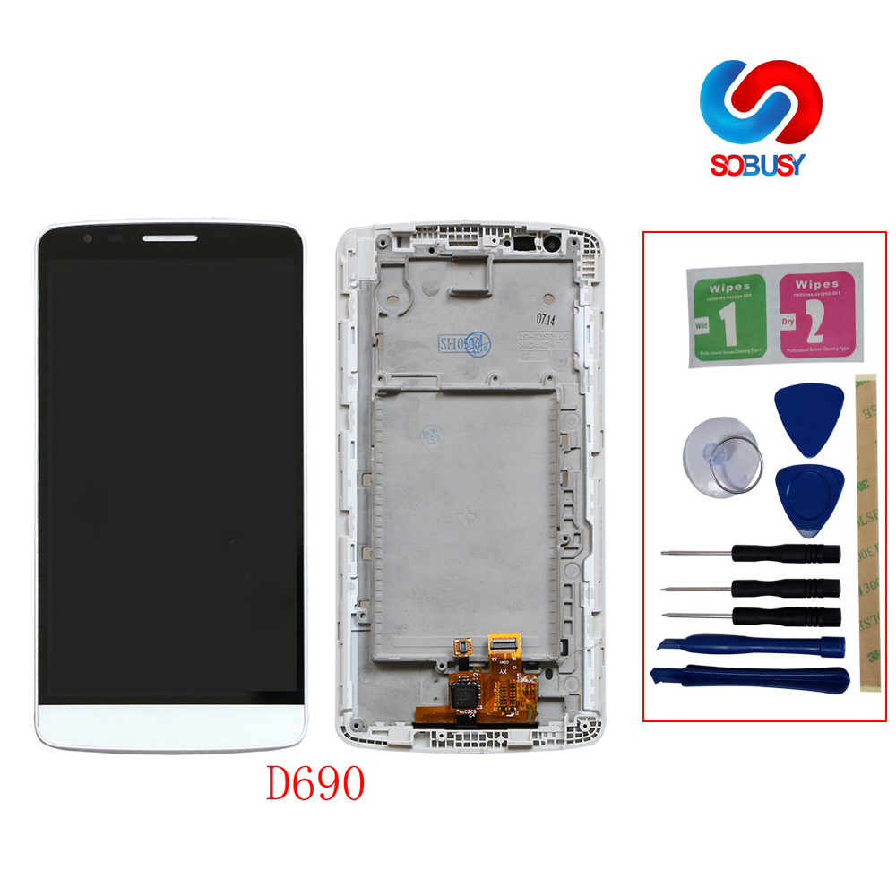 b0040fd0419 Tested D690 IPS tela For LG G3 Stylus LCD Display D690 LCD Pantalla Touch  Screen Panel Digitizer Assembly Replacement Part+tool