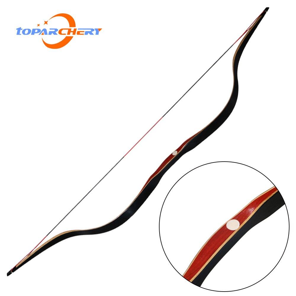 Arc classique traditionnel de chasse à l'arc long fait à la main 30-50lbs à droite