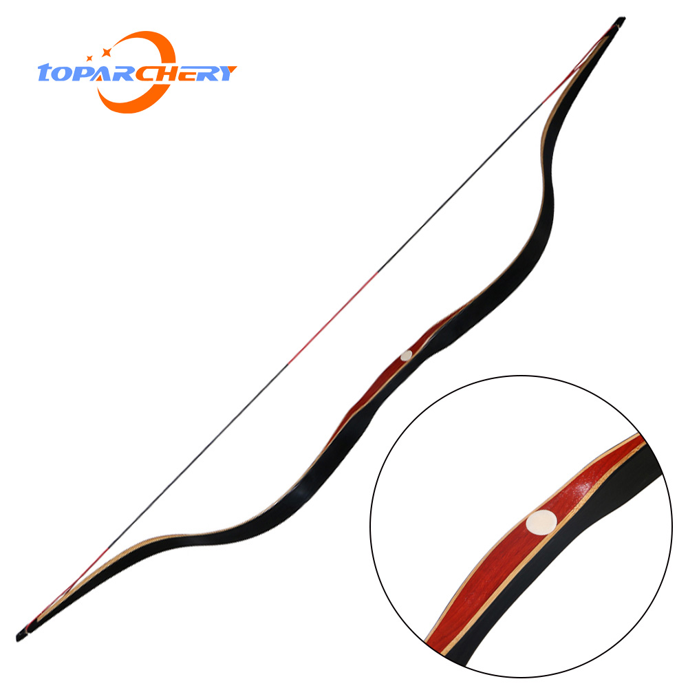 Traditional Handmade Longbow Hunting Recurve Bow 30-50lbs Right Left Handed Mongolian Horsebow Laminated Archery Practice Bow image