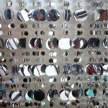 Бесплатная доставка/10 М Серебряный и белый блестками занавес блеск украшения фестиваль фон этапе шторы