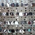 Frete grátis/10 M Prata e branco cortina de lantejoulas glitter decoração festival fundo cortinas do palco