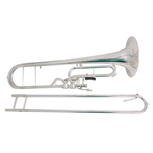 F Key Contrabass Trombone with case mouthpiece Yellow Brass trombones musical instruments Silver plated