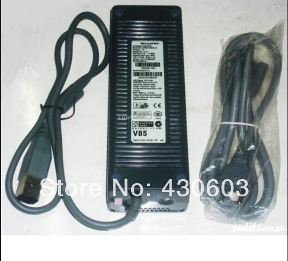 Para xbox grasa adaptador de ca adaptador de alimentación de 150 W grasa adaptador de ca de la ue y ee.uu. version
