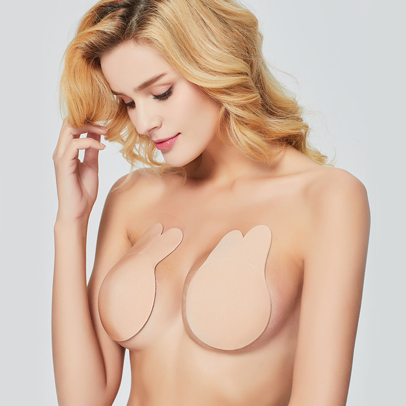 2019 Women Self Adhesive Nipple Breast Pasties Sticky Bra Invisible Strapless Push Up Bandage Women Bra A B C D Nipples Stickers