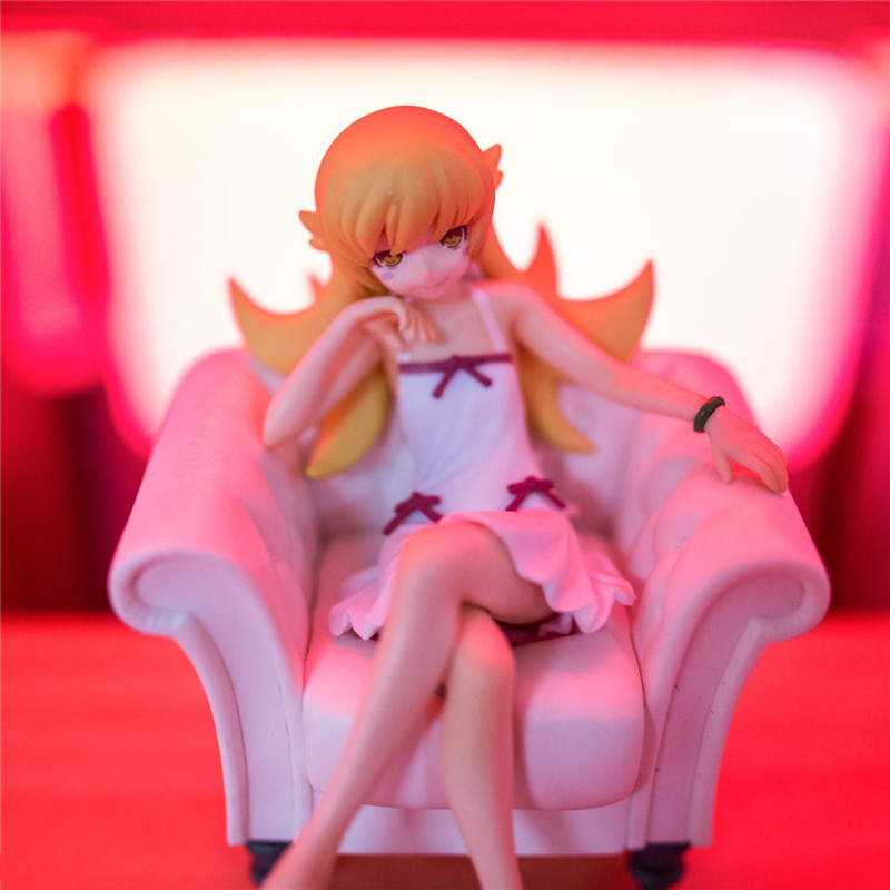 12 Cm Japan Anime Figure Bakemonogatari Monstory Oshino Shinobu Action Figure Model Toys Beautiful Girl Kwaii Figure Toys Toys & Hobbies