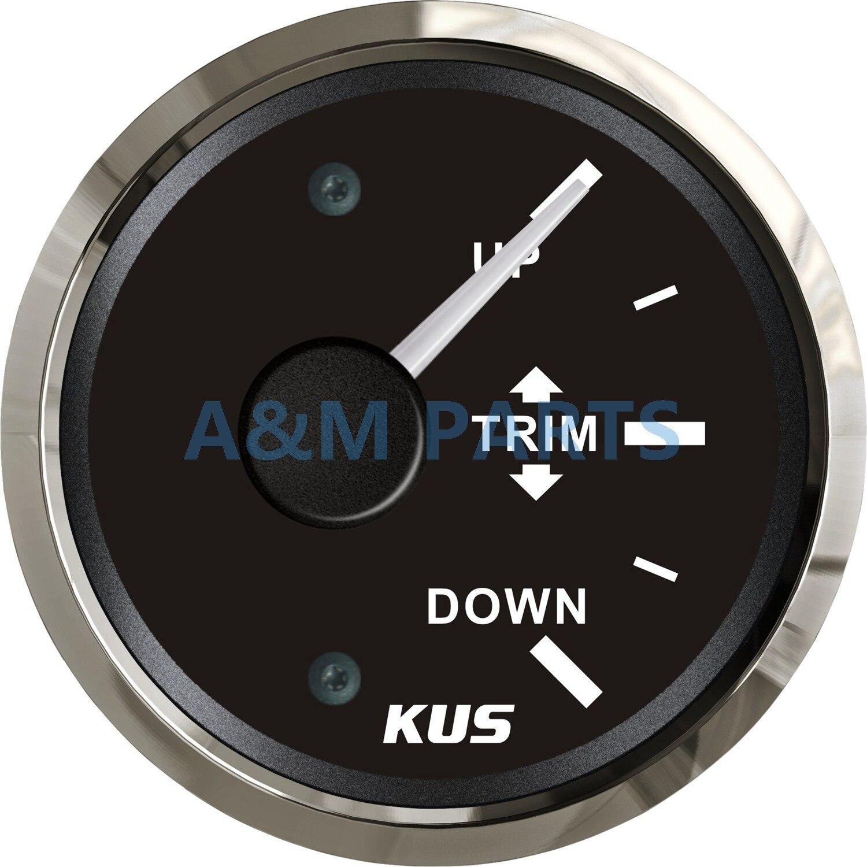 Jauge de garniture de bateau KUS jauge d'inclinaison de garniture Marine WEMA pour hors-bord Mercury Yamaha 52mm 0-190 ohms