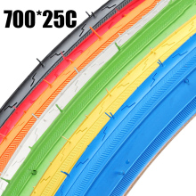 700*25C 25-622 Road Bike Tyre High quality Bicycle Tires Fixed Gear bike Road Bicycles Cruisers Tire 7 Color Bicycle Accessories все цены