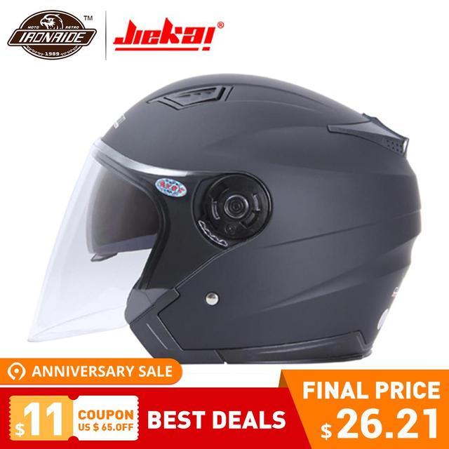 JIEKAI Helmet Motorcycle Open Face Capacete Motorcycle Helmet Motocicleta Cascos Para Moto Racing Motorcycle Vintage Helmets