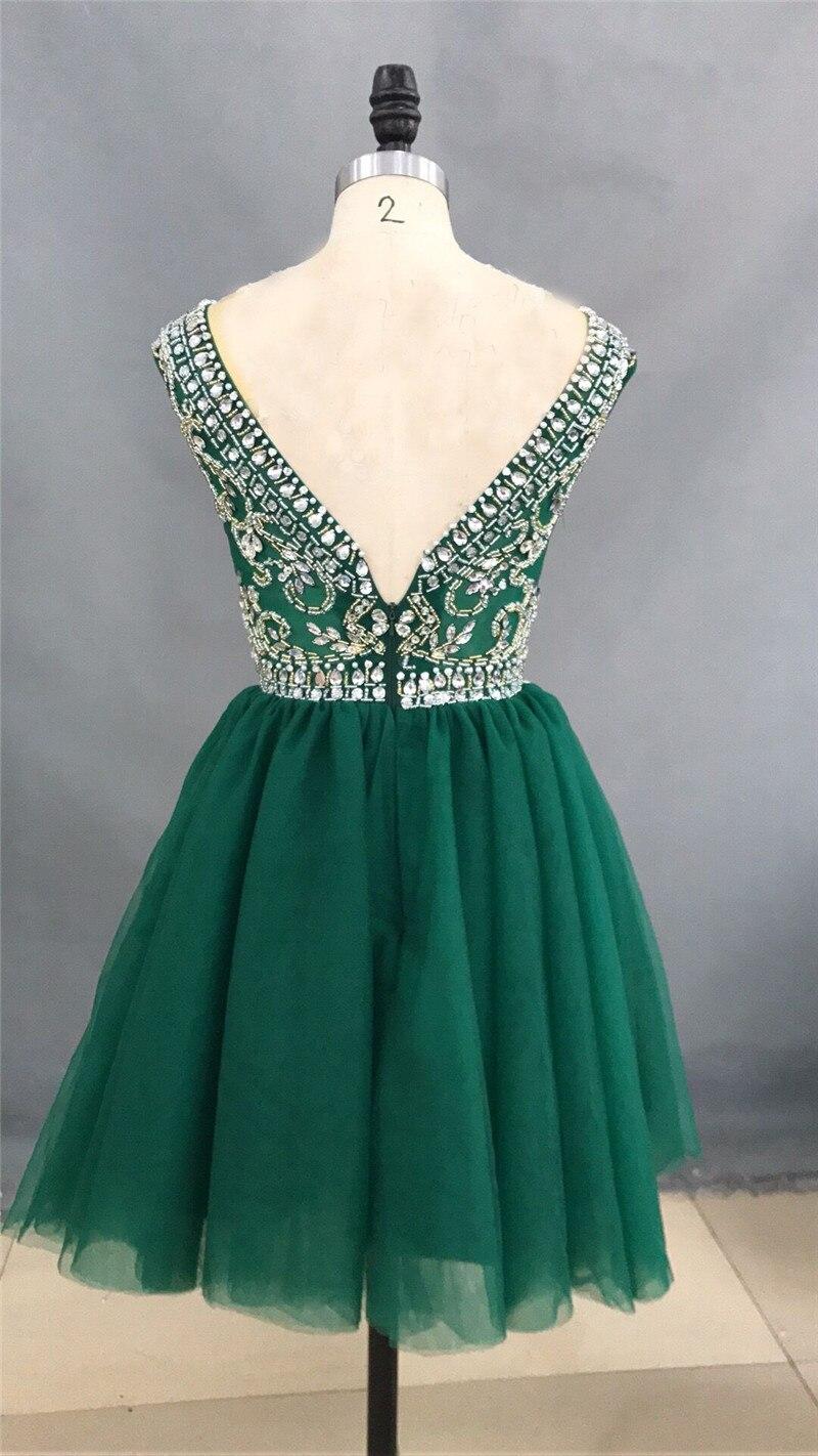 Vestido formatura curto verde