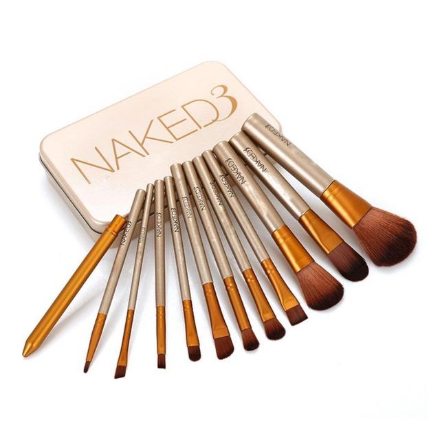 12 unids NK3 Sombra de Ojos Fundación Pinceles de Maquillaje Natural Conjunto de Herramientas de Brocha de Sombra de Ojos Paleta de Cosméticos Envío de La Gota