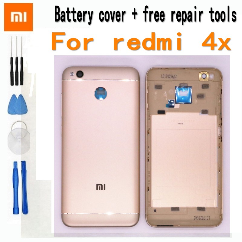 Original Battery Cover Case For Xiaomi Redmi 4x Smart Phone  Replacement Phone Housing Case Metal With Volume And Power Buttons