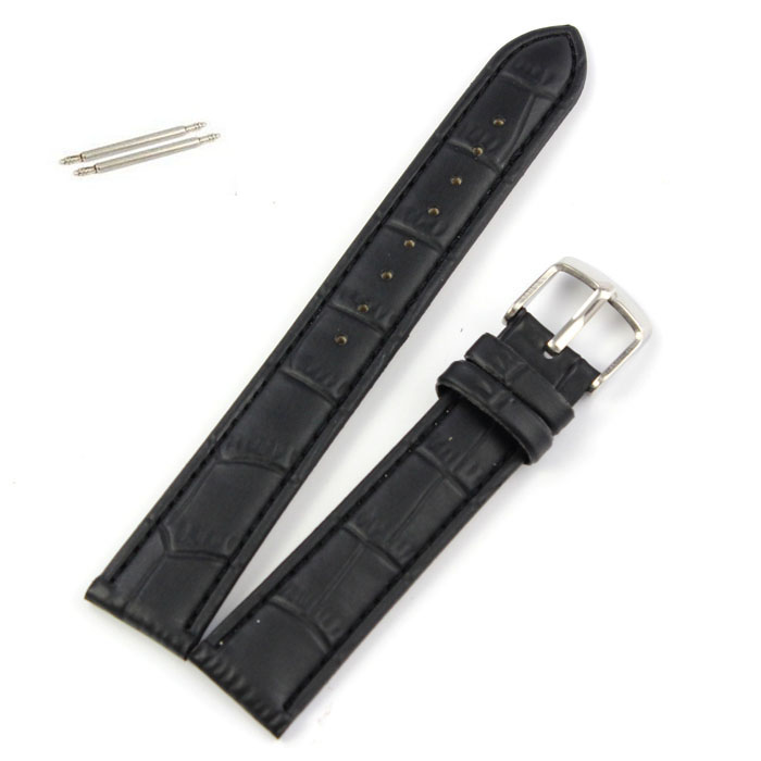 Watchband 18~22mm Leather Strap Steel Buckle Watch Band Soft Watchbands drop shipping Watch Strap