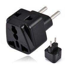 Mayitr Electric Plug Universal Travel Socket 1 to 2 UK/US/EU/AU Outlet EU/Brazil/Israel Splitter Adapter Charger