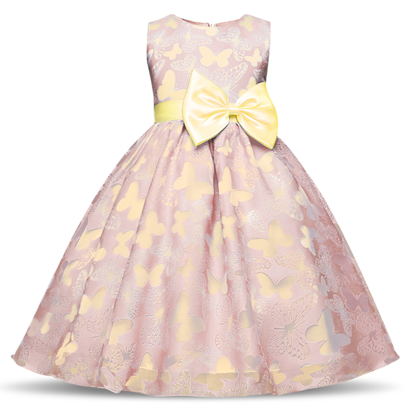 Fancy Summer Butterfly Kids Girl Dresses Flower Girls Dress Baby Children Party Prom Gown Designs Little Girl Birthday Dress 10T girl party dress christmas dress for girl 2017 summer formal girl flower gir dresses junior girls prom gown dresses baby clothes