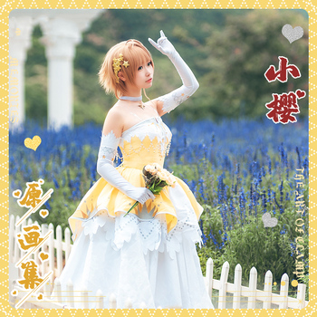 Anime! Cardcaptor Sakura Memories Kinomoto Sakura Princess Lolita Dress Lovely Uniform Cosplay Costume Party Dress Free Shipping