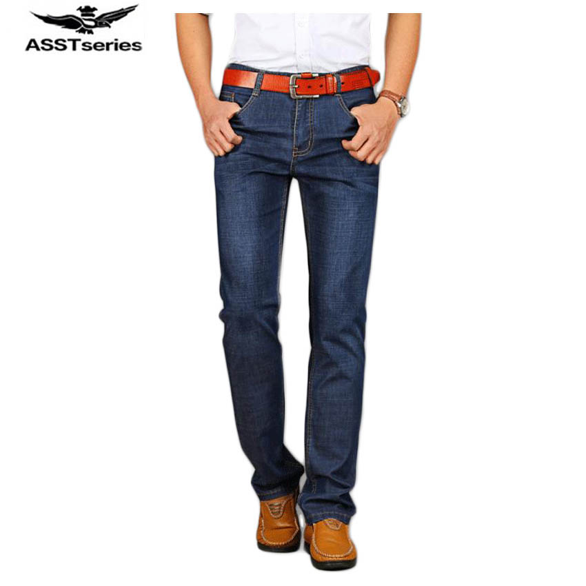 Free shipping Spring and Autumn mens casual jeans trousers Stretch straight Slim jeans Brand mens fashion jeans 68yw1