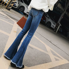 New 2018 Spring Autumn Women Denim Flare Pants Boyfriend Jeans For Women Fashion Loose Female Casual Trousers цена 2017