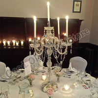 Acrylic Crystal Candelabra Candle holder Table Decor Wedding Supply